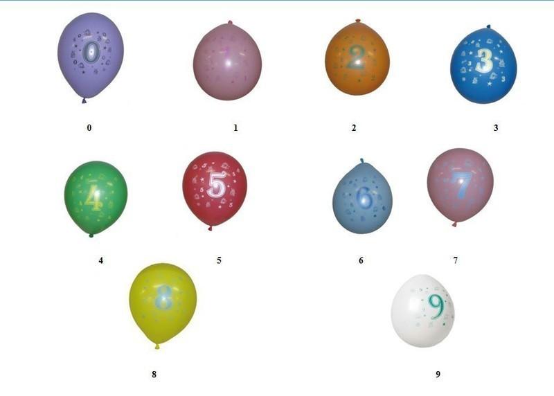 8 ballons chiffre de 0 80 ans mag embal fete. Black Bedroom Furniture Sets. Home Design Ideas