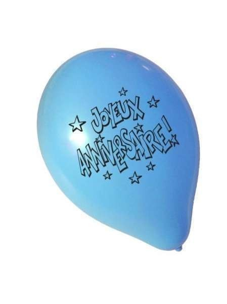 8 ballons joyeux anniversaire mag embal fete. Black Bedroom Furniture Sets. Home Design Ideas