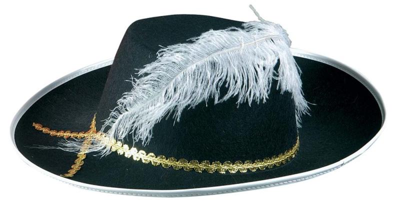 chapeau mousquetaire noir mag embal fete. Black Bedroom Furniture Sets. Home Design Ideas